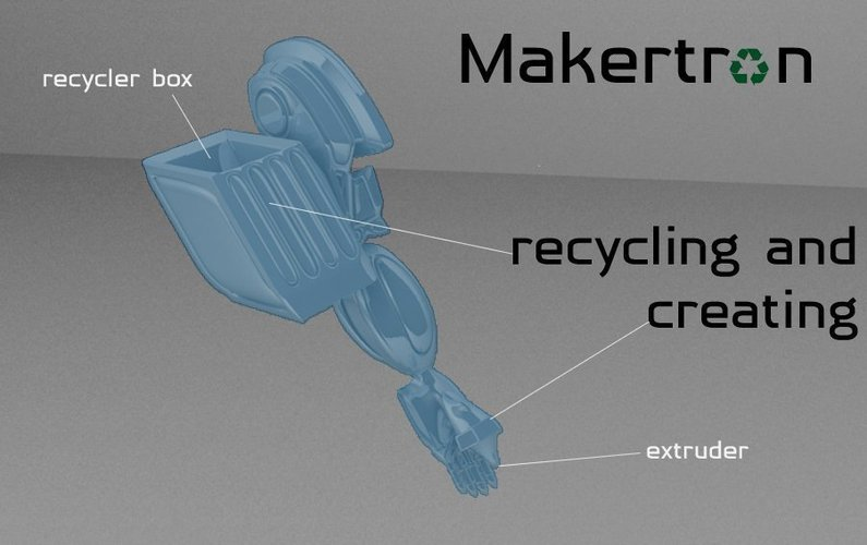 MAKERTRON.R3 he is really a maker. A 3d maker!  3D Print 41028