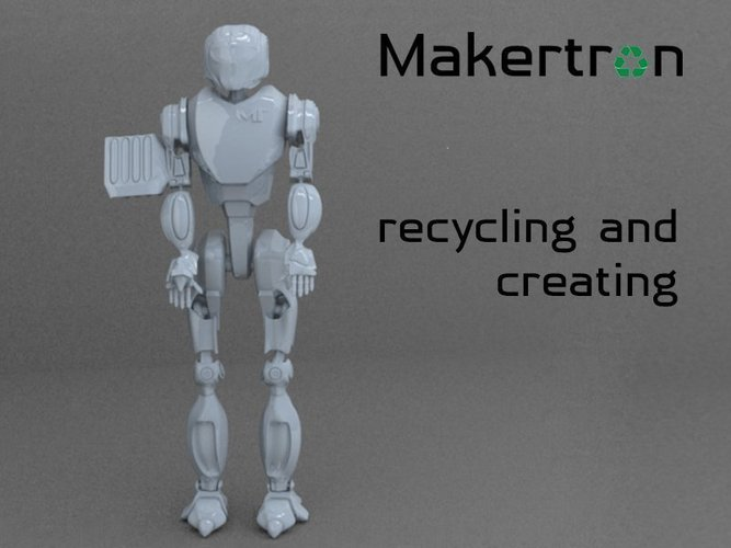 MAKERTRON.R3 he is really a maker. A 3d maker!  3D Print 41034