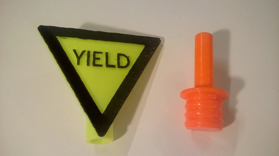 Yield Sign For Safety Cones 3D Print 41050