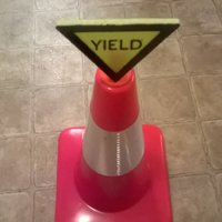 Small Yield Sign For Safety Cones 3D Printing 41052