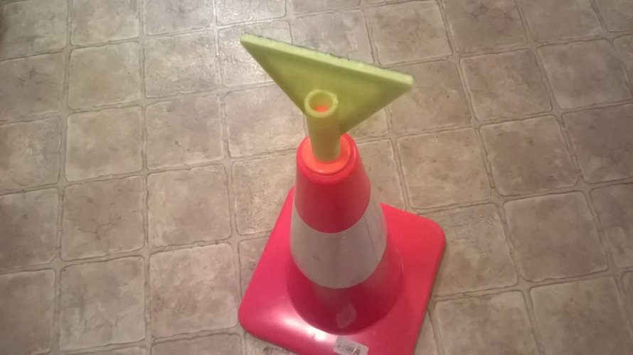 Yield Sign For Safety Cones 3D Print 41054