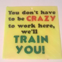 Small Crazy Train sign 3D Printing 41057