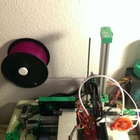 Small Spool Holder Wall Mount 3D Printing 41058
