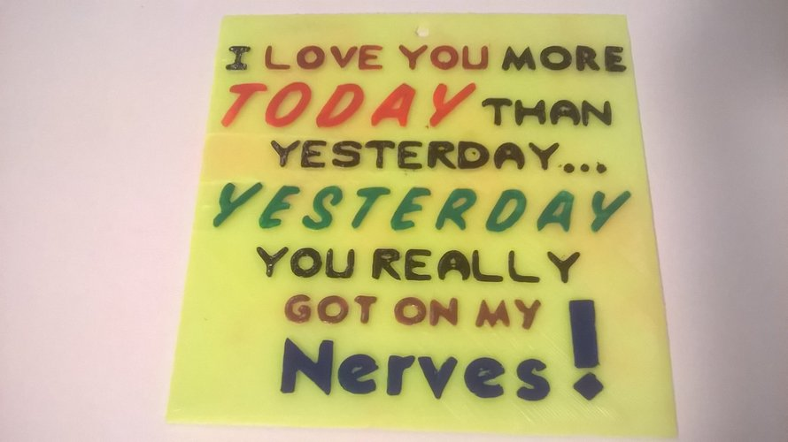 Love Today More sign 3D Print 41066