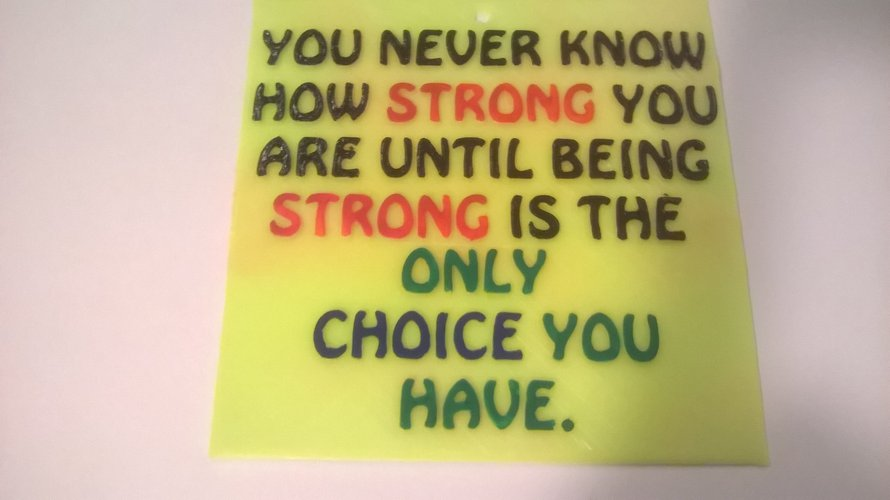 Strong Choice Sign  3D Print 41072