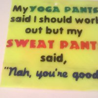 Small Yoga Vs Sweat Pants Sign 3D Printing 41073