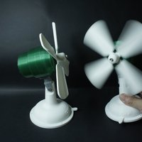 Small Retro toy fan 3D Printing 41163