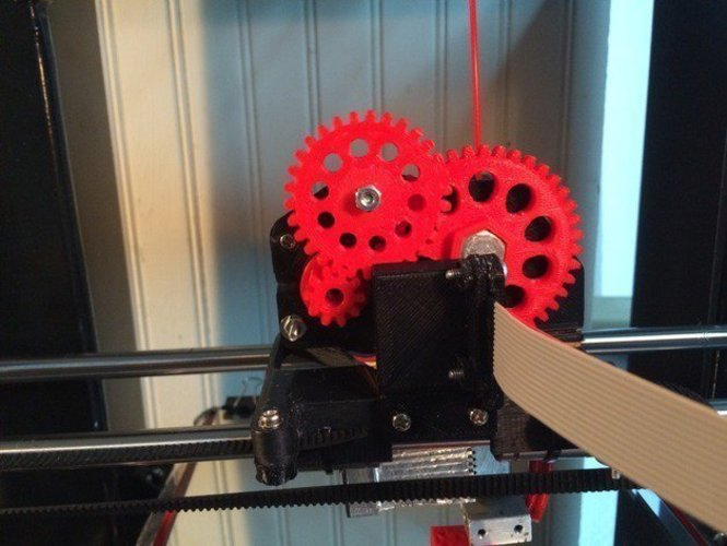 triple gear Extruder with NEMA 14 (V2.0) 3D Print 41266