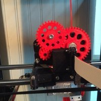 Small triple gear Extruder with NEMA 14 (V2.0) 3D Printing 41266