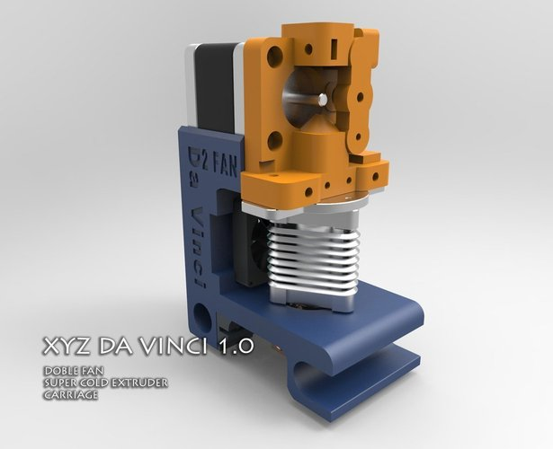 XYZ DA VINCI DOUBLE FAN CARRIAGE. 3D Print 41343