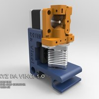 Small XYZ DA VINCI DOUBLE FAN CARRIAGE. 3D Printing 41343