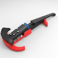 Small Easy printing Electric Violin. 3D Printing 41366