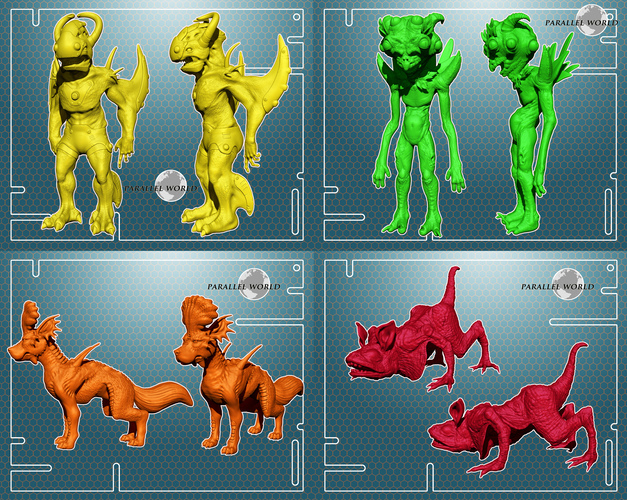 ​Parallel World - Set of 10 Characters 3D Print 4137