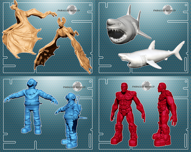 ​Parallel World - Set of 10 Characters 3D Print 4138