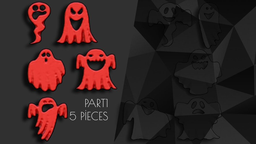 Halloween Ornaments Part1 (5Piece) 3D Print 41483