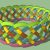 Small Celtic wristband 3D Printing 41494