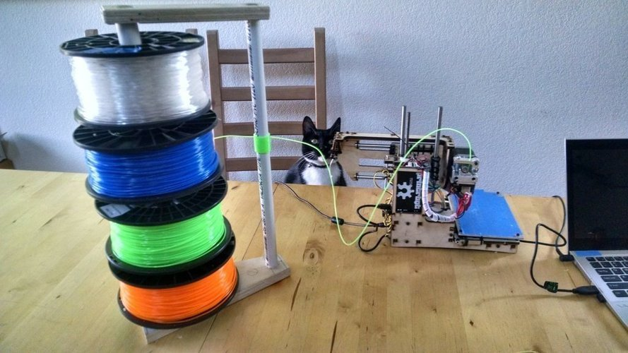 Filament stack with free spinning spools 3D Print 41497