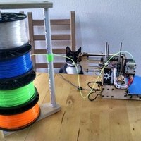 Small Filament stack with free spinning spools 3D Printing 41497