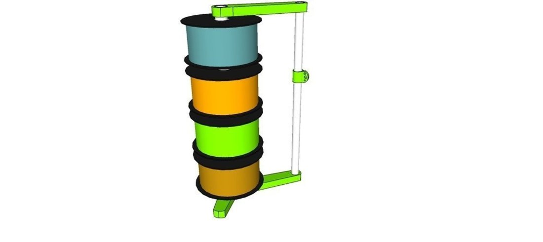 Filament stack with free spinning spools 3D Print 41498