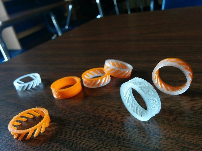 Ring - 2 Piece Helix 3D Print 41517