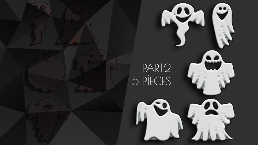 Halloween Ornaments Part2 (5Pieces) 3D Print 41601