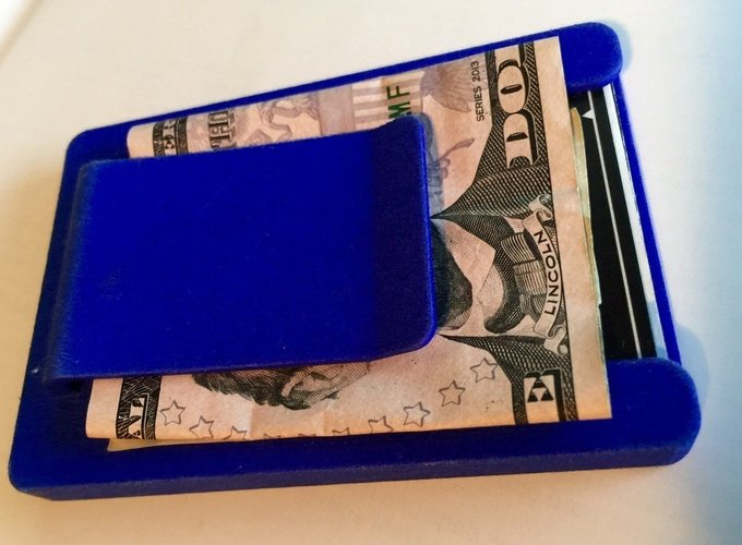 Wallet with money clip 3D Print 41769