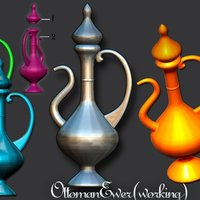 Small Ottoman Ewer .Real Working 3D Printing 41808