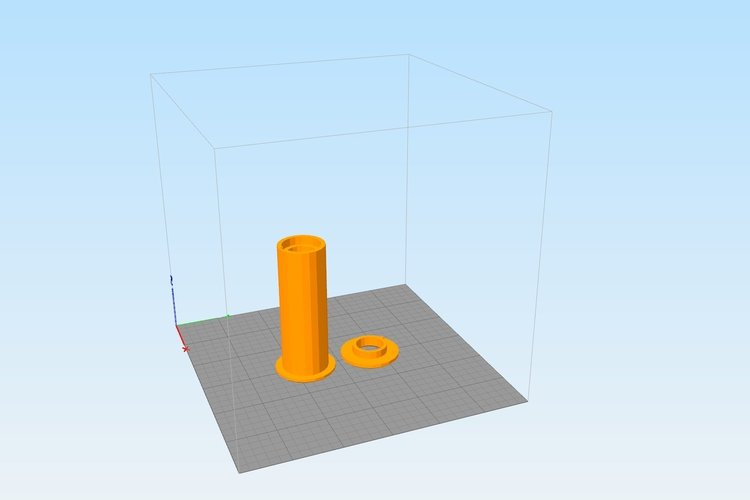 Hatchbox Box-Mount Spool Holder 3D Print 41819