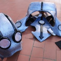 Small Xelor wearable female armor from Wakfu game 3D Printing 41835