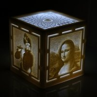 Small [PICtart] Lightcube with Lithophane Paintings 3D Printing 41920
