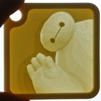 Small Baymax Lithopane(PICtart) 3D Printing 41926