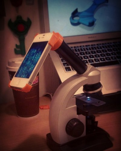 Microscope eyepiece case for iPhone 4 3D Print 41999