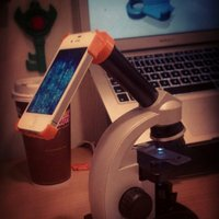 Small Microscope eyepiece case for iPhone 4 3D Printing 41999