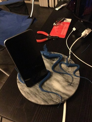 iPhone 6 Plus Tentacle Stand 3D Print 42025