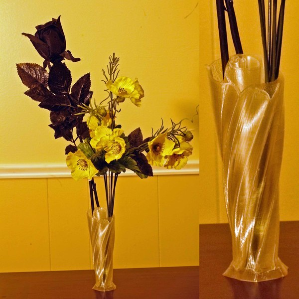 Medium Twisted Rose Vase 3D Printing 42105