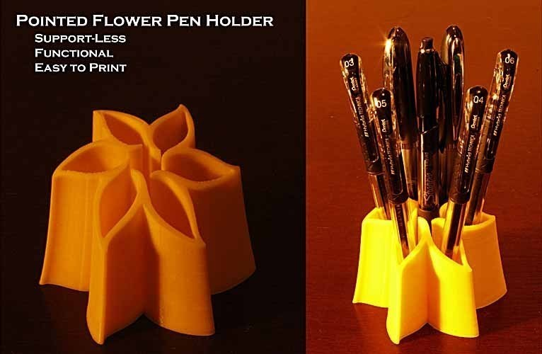 Pointed Flower Pen Holder 3D Print 42158