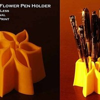 Small Pointed Flower Pen Holder 3D Printing 42158
