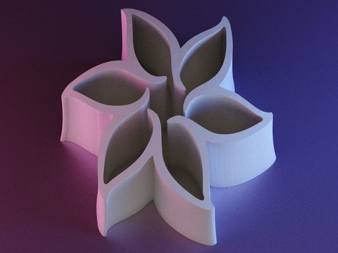 Pointed Flower Pen Holder 3D Print 42168