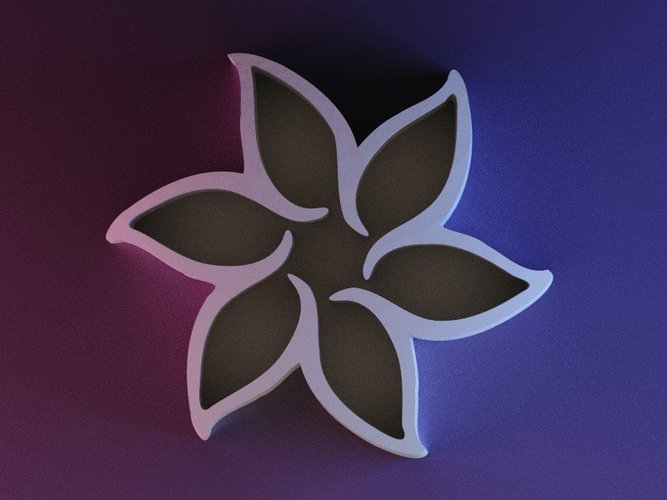 Pointed Flower Pen Holder 3D Print 42169