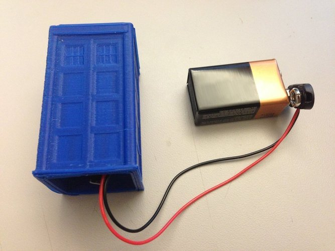 TARDIS with Lights and Sound 3D Print 42248