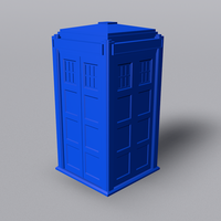 Small TARDIS with Lights and Sound 3D Printing 42252