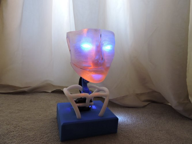 Animated Humanoid Robot Head 3D Print 42373