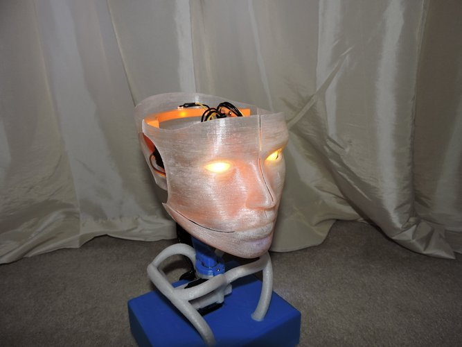 Animated Humanoid Robot Head 3D Print 42375