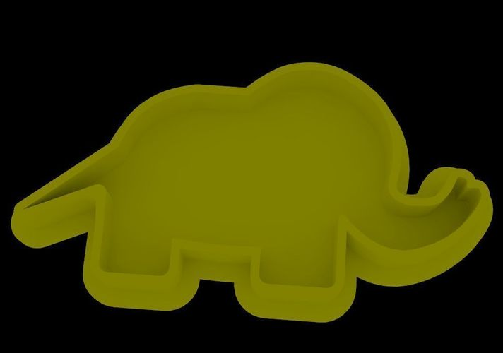 Elephant cookie cutter 3D Print 42416