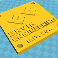 Small Ervin Engineering Plaque 3D Printing 42449