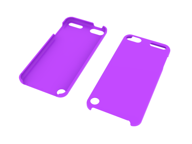 iPod Touch 5 & 6 slim case (blank) 3D Print 42453