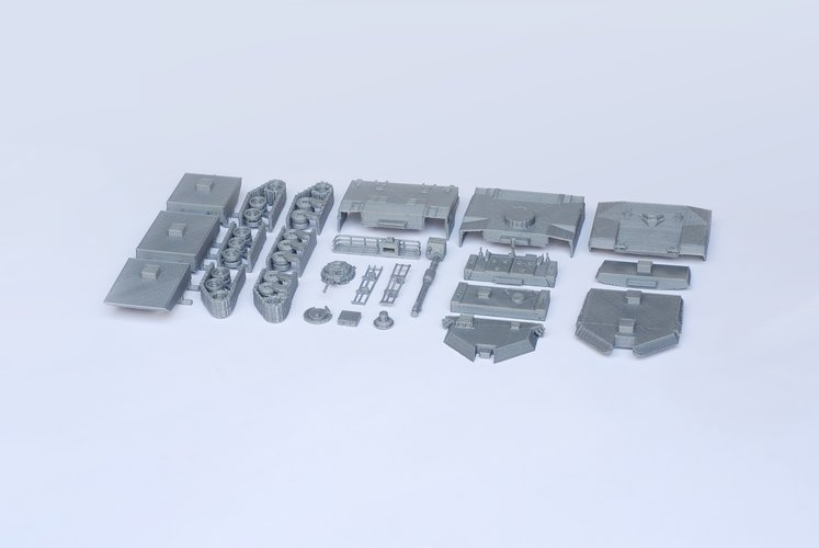 M1 Abrams Tank Model Kit - 25 body parts 3D Print 42455