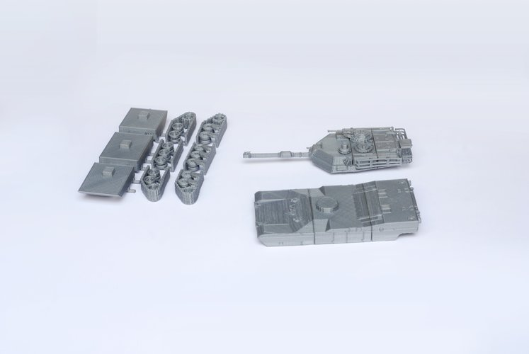 M1 Abrams Tank Model Kit - 25 body parts 3D Print 42459
