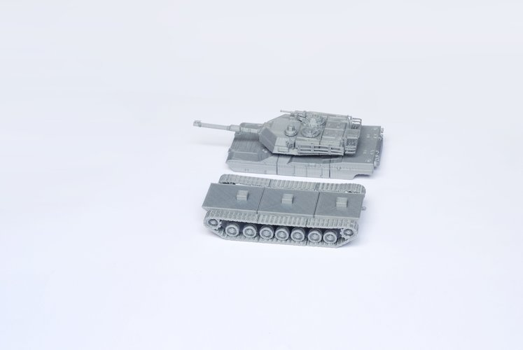 M1 Abrams Tank Model Kit - 25 body parts 3D Print 42460