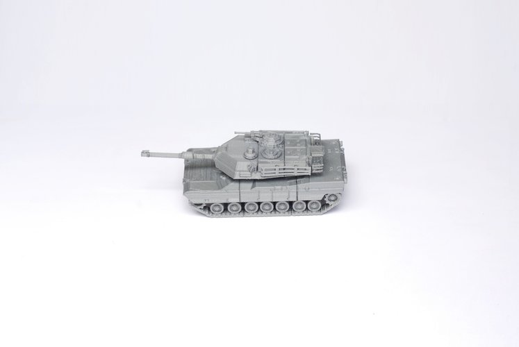 M1 Abrams Tank Model Kit - 25 body parts 3D Print 42461